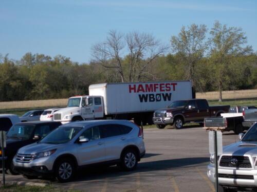 Hamfest Parking Lot at Columbus Acres